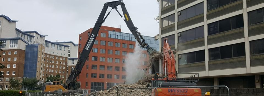 Plant Hire - Wessex Demolition - Volvo EC480 High Reach Excavator