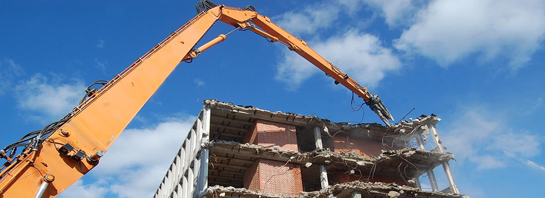 High Reach demolition in Portsmouth, Hampshire