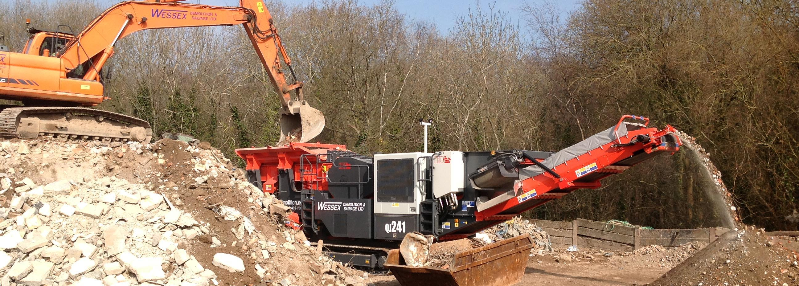 Plant Hire - Wessex Demolition - Sandvik QJ241 Crusher