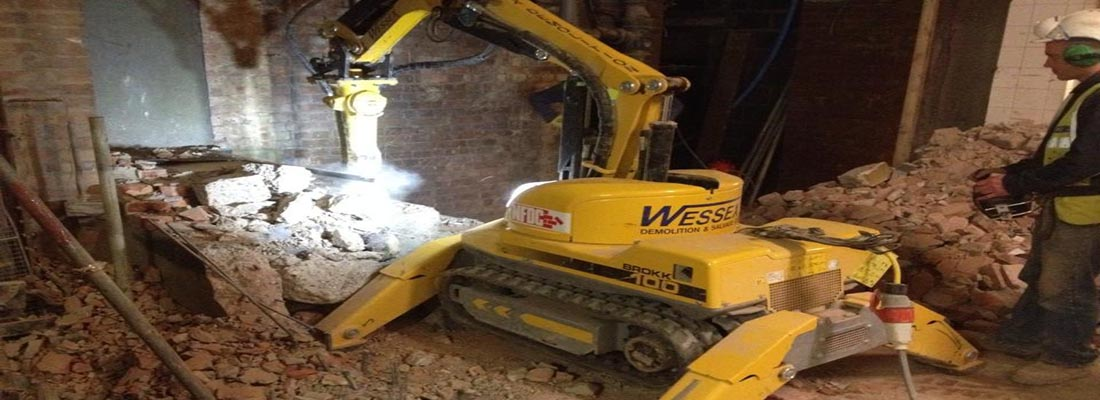 Plant Hire - Wessex Demolition - Brokk 100 Robotic Demolition