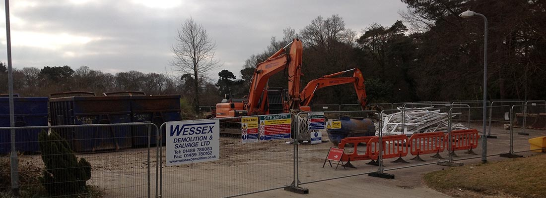 Site set up in Park Gate, Southampton